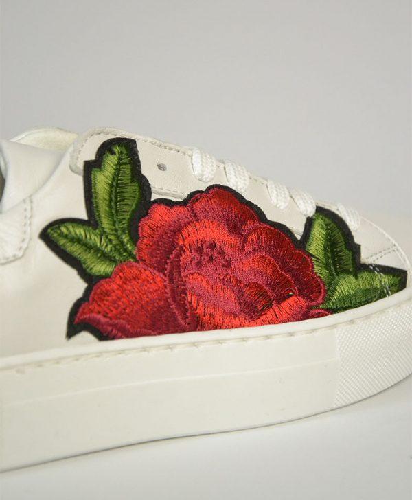 Кеды Nila&Nila белые с красной розой