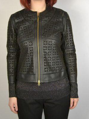 Куртка  Clips черная перфорированная на молнии