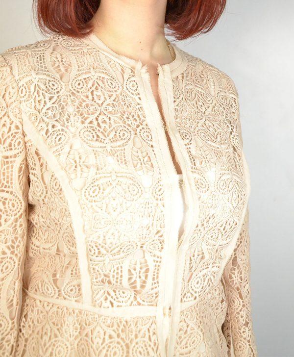 Пиджак Clips цвет пыльная роза шитье