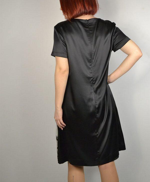 Платье Clips черно-белое с узором