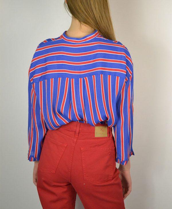 Рубашка Dixie синего цвета в красно-белую полоску