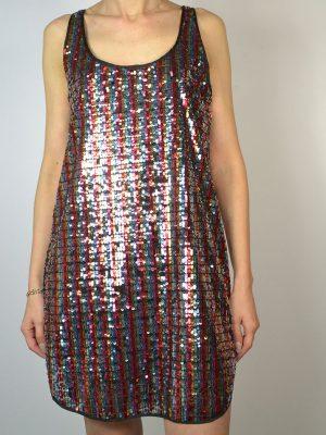 Платье Dixie черное без рукавов разноцветные пайетки
