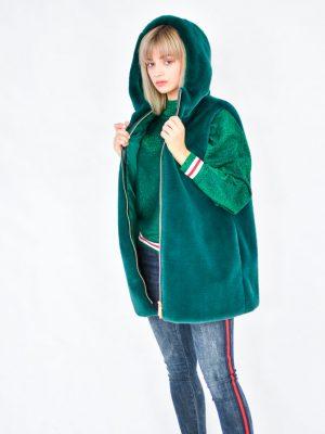 Жилет Roberta Biagi меховая зеленого цвета
