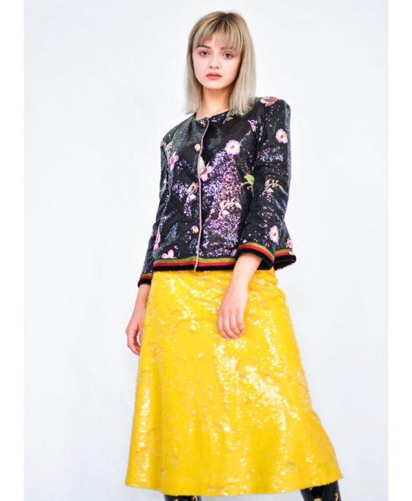 Пиджак Eureka черный с вышивкой