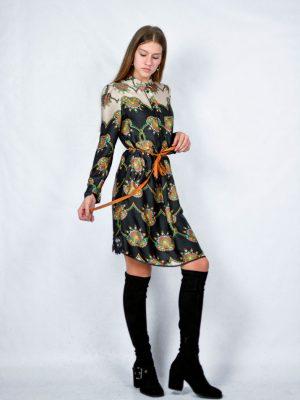 Платье-халат Dixie с поясом