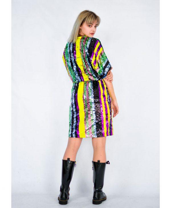 Платье Imperial с разноцветными пайетками