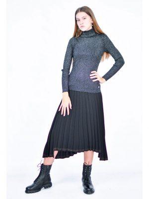 Юбка MaryLey черного цвета в складку