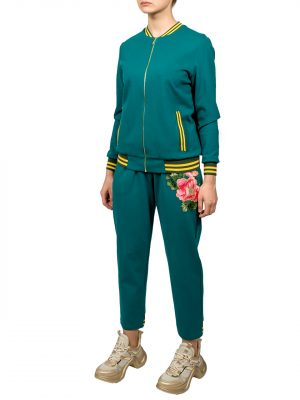 Костюм Angel Boutique couture зеленый с вышивкой