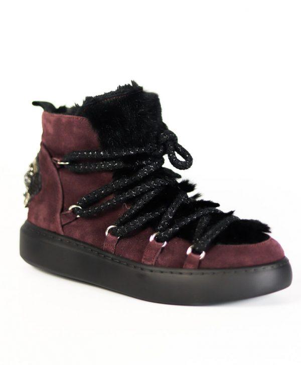 Ботинки Baldan фиолетового цвета