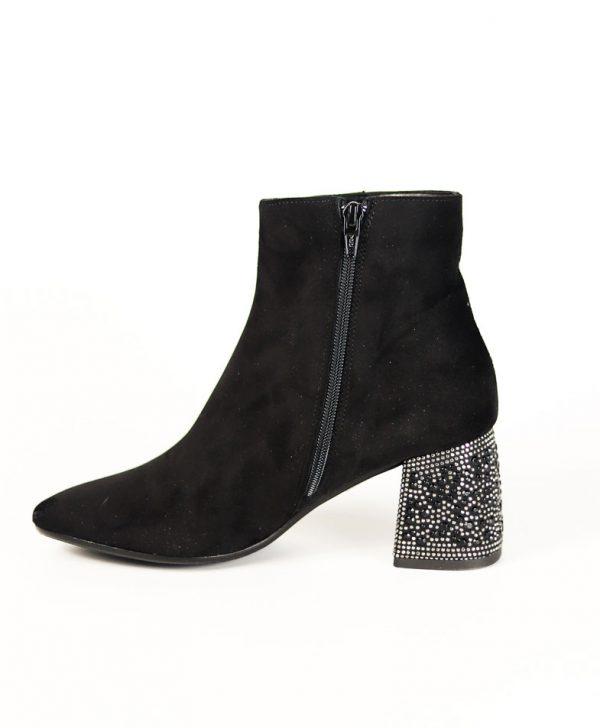 Ботинки Nila&Nila черного цвета замша
