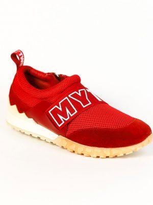 Кроссовки Twin-Set красного цвета с резинкой
