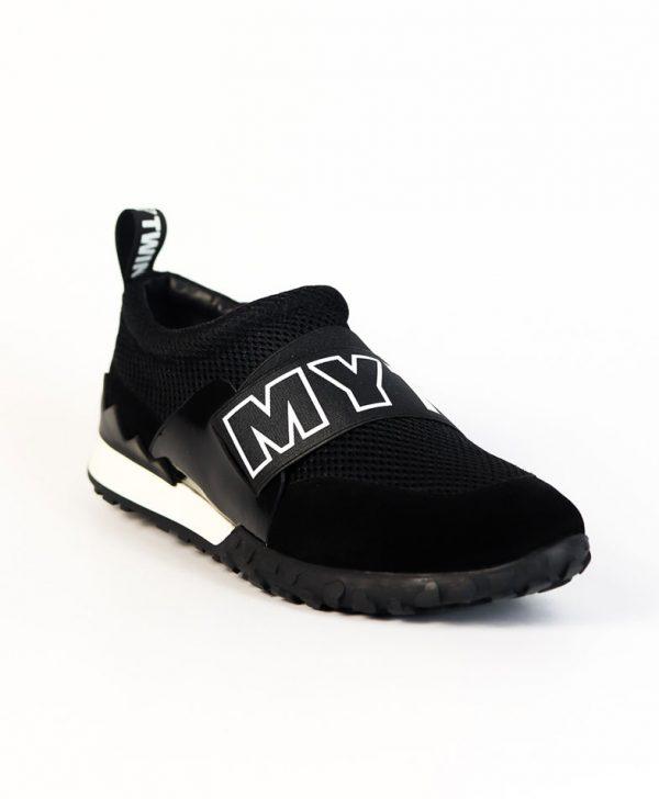Кроссовки Twin-Set черного цвета с резинкой