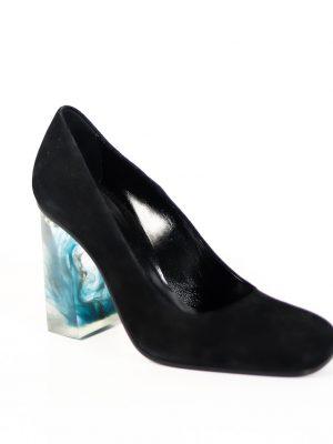Туфли Baldan черного цвета каблук разводы