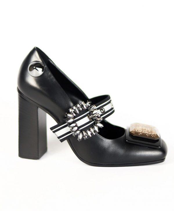 Туфли Baldan черного цвета с пряжкой