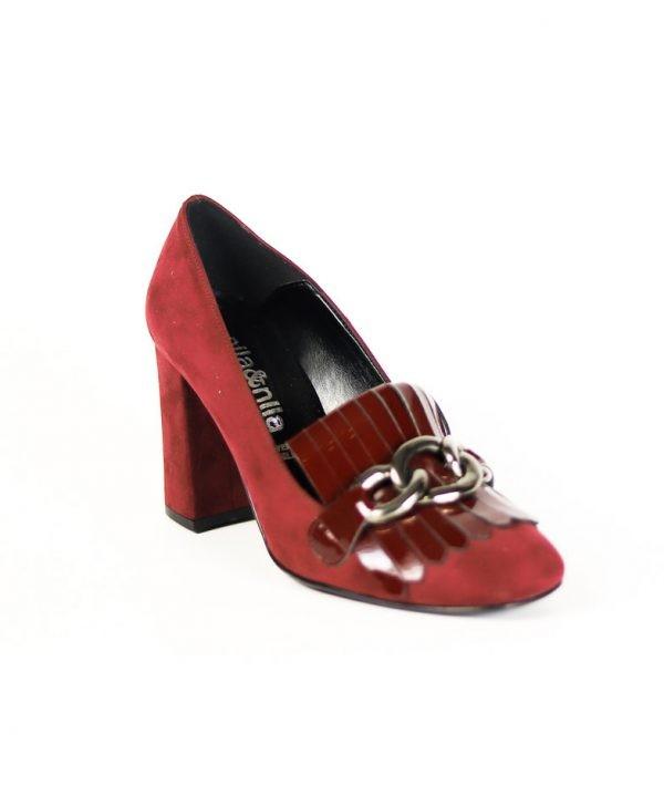 Туфли Nila&Nila бордового цвета замша