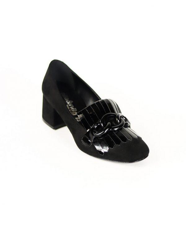 Туфли Nila&Nila черного цвета замша