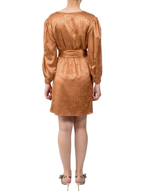 Платье Imperial шелковое цвета бронзы
