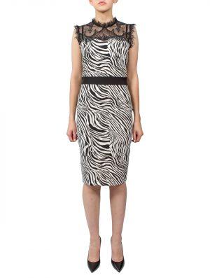 Платье Rinascimento принт зебра