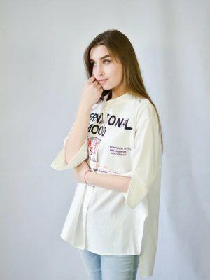 Рубашка Rosa Shock белая с надписями