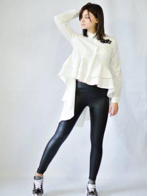 Рубашка Rosa Shock белая удлиненная