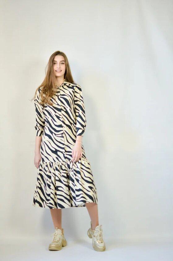 Платье Lumina принт зебра