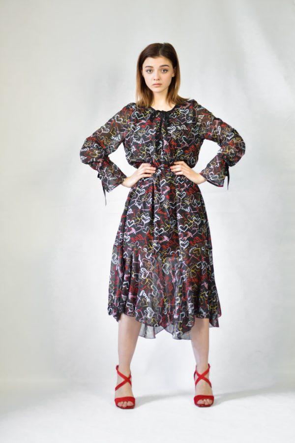Платье Lumina с сердцами