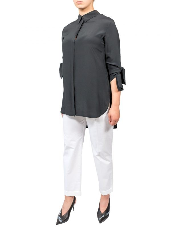 Рубашка Beatrice черная с бахромой