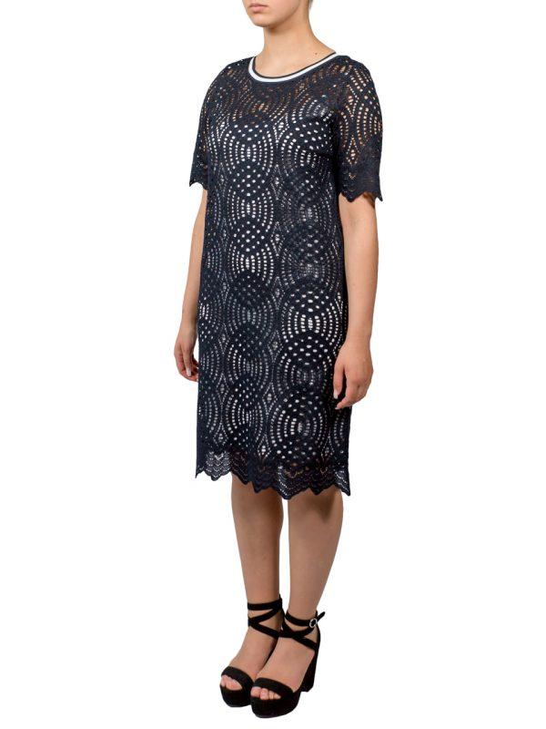 Платье D. Exterior синее гипюр