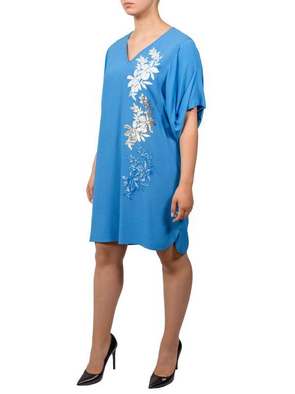 Платье VDP синее с цветами