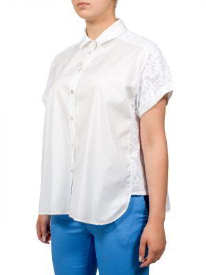 Блуза VDP белая с гипюром