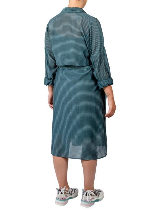 Платье-халат Peserico зеленое в полоску