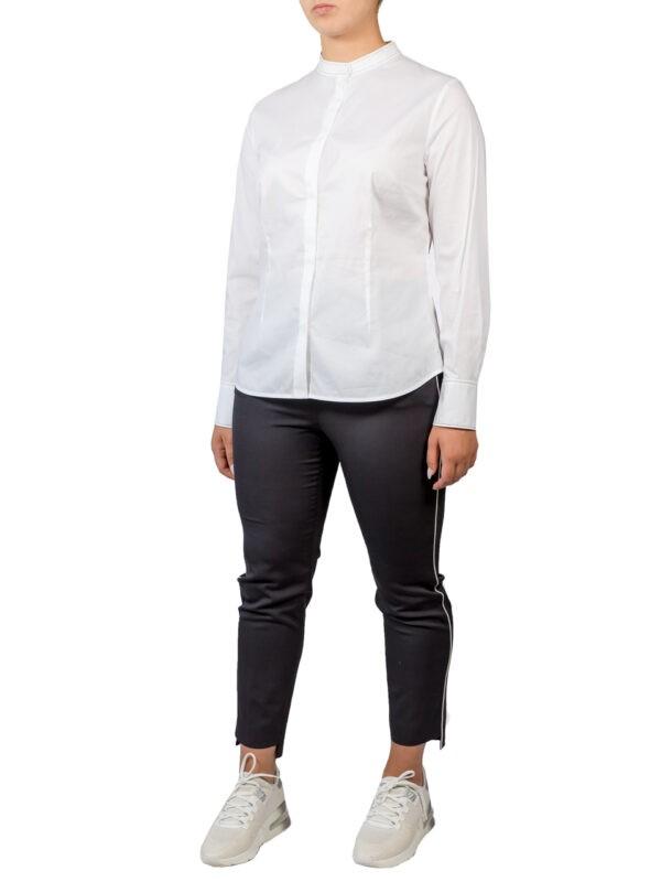 Рубашка Peserico белая с серебряной отделкой на вороте