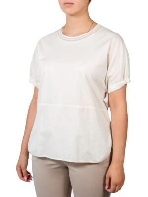 Блуза Peserico молочного цвета с завязками на рукавах