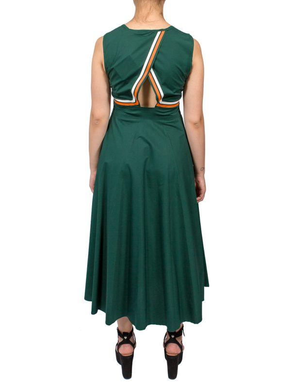 Платье Beatrice зеленое с полосками
