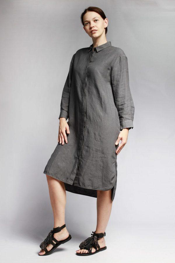 Платье Peserico серое льняное