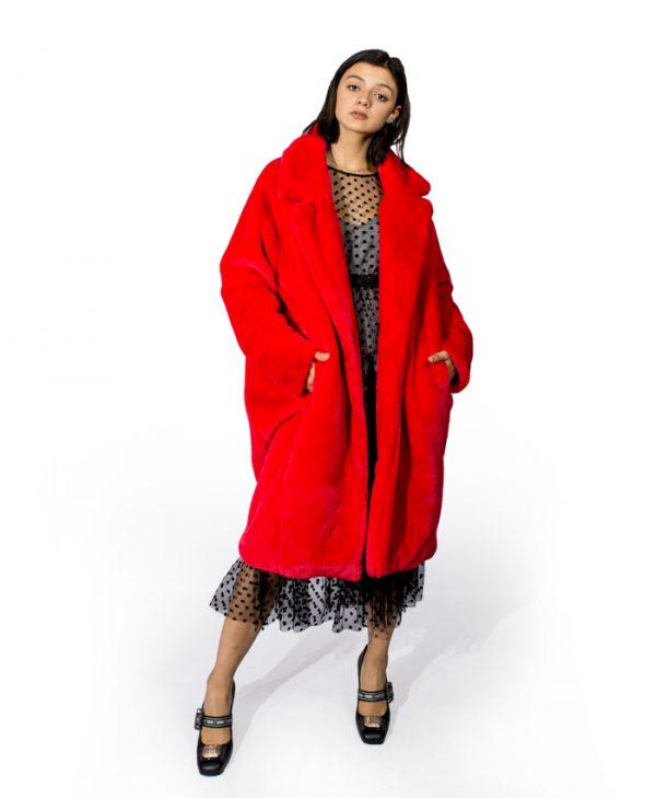 Шуба Barbara Collection красная