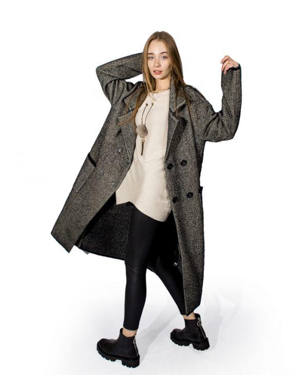 Пальто  Beauty Fashion Style серое