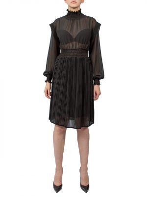 Платье Kontatto черное плессированное
