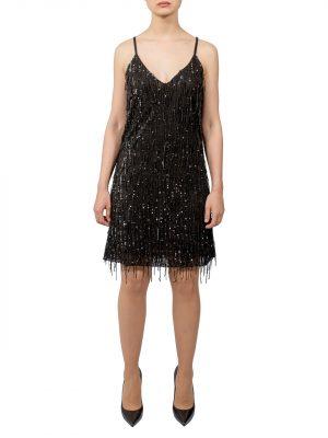 Платье Kontatto черное с пайетками
