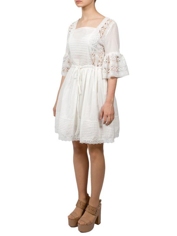 Платье Lara белое с гипюром