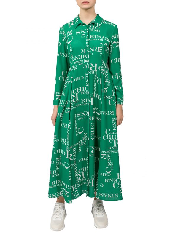 Платье-халат Rinascimento зеленое