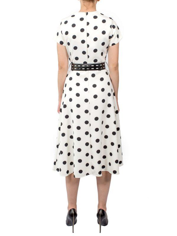 Платье Rinascimento белое в горошек