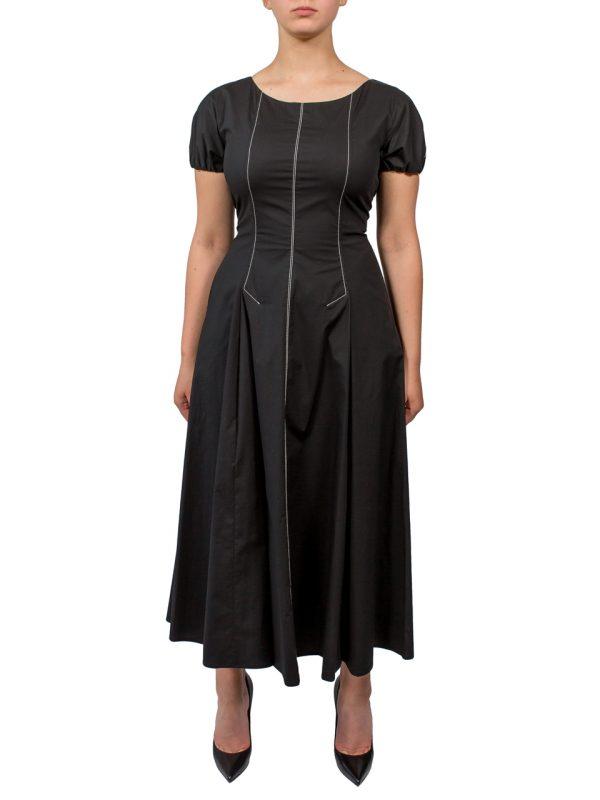 Платье Beatrice черное хлопковое