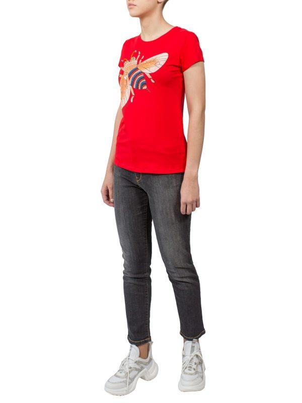 Футболка Melanera красная с рисунком