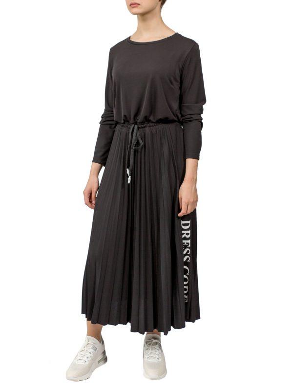 Платье Imperial черное плессированное