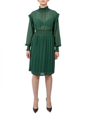 Платье Kontatto зеленое плессированное