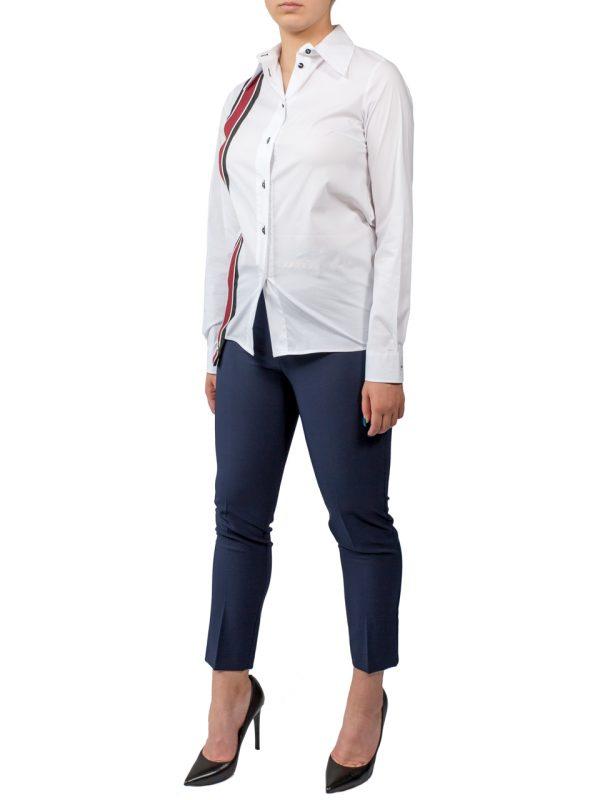 Рубашка Imperial белая с бордовой вставкой