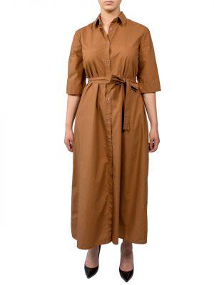 Платье Paquito хлопковое бронза