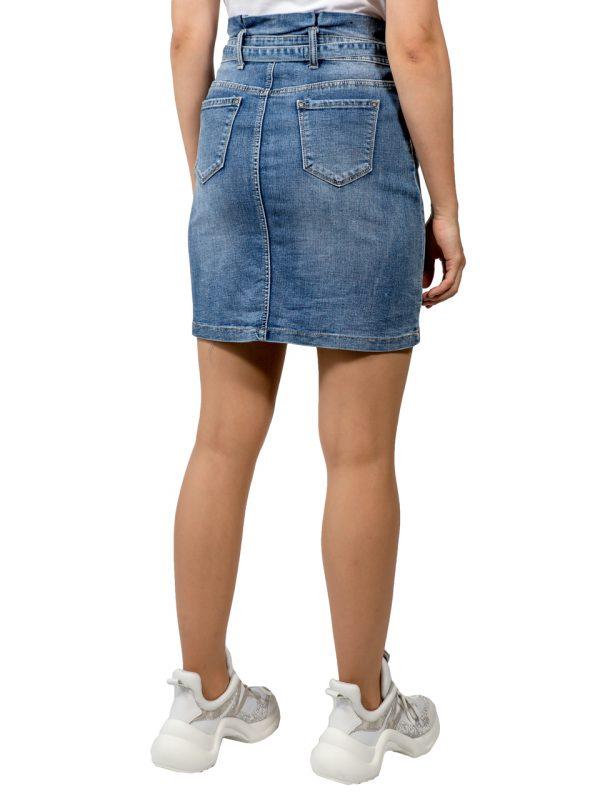 Юбка Miss Bon Bon джинсовая с поясом