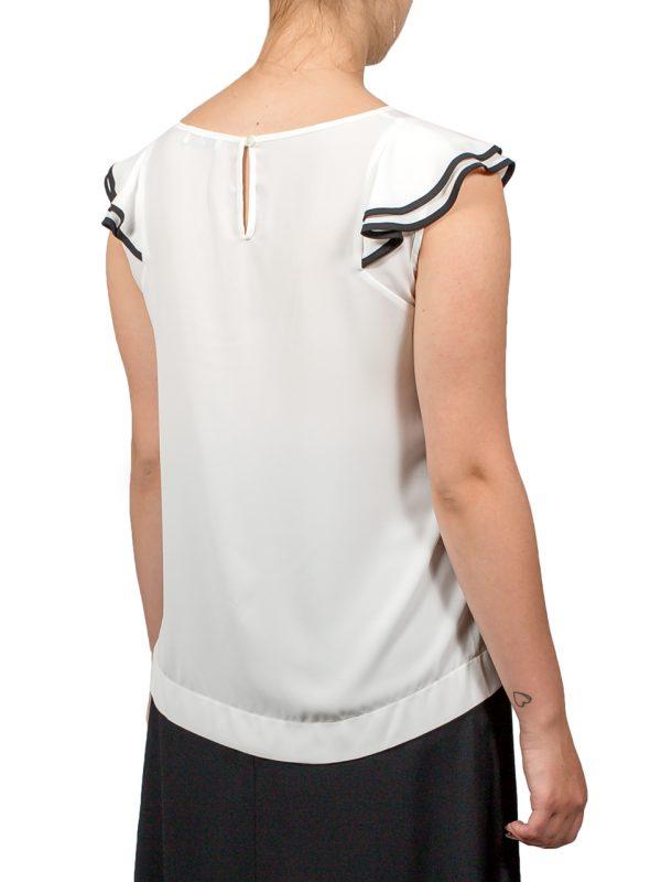 Блуза Sfizio белая с рюшами